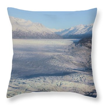 Glacier In Alaska Throw Pillow
