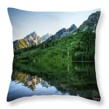 Glacier Lake Throw Pillow by Rebecca Hiatt