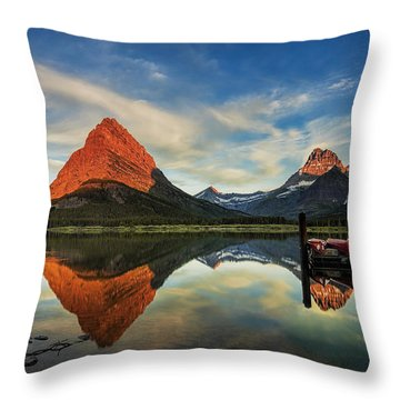 Glacier Morning Throw Pillow