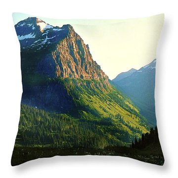 Glacier National Park 2 Throw Pillow