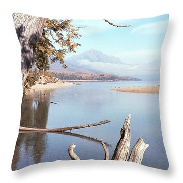 Glacier National Park 3 Throw Pillow