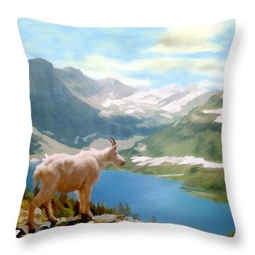 Glacier National Park Throw Pillow by Kurt Van Wagner