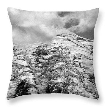 Throw Pillow featuring the photograph Glacier On Mt Rainier by Lori Seaman