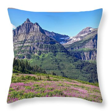 Glacier Park Bedazzeled Throw Pillow