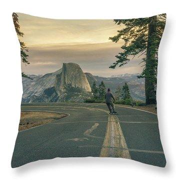 Glacier Point Adventure Throw Pillow by Alpha Wanderlust