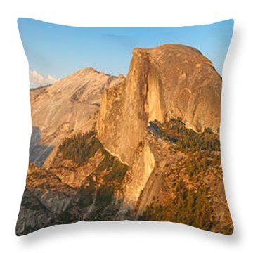 Glacier Point Panorama Throw Pillow