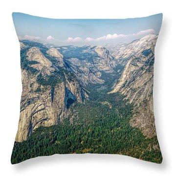 Glacier Point Yosemite Np Throw Pillow