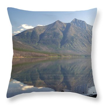 Glacier Reflection1 Throw Pillow by Marty Koch