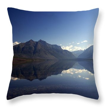 Glacier Reflections 2 Throw Pillow by Marty Koch