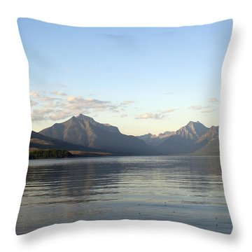 Glacier Reflections 3 Throw Pillow by Marty Koch