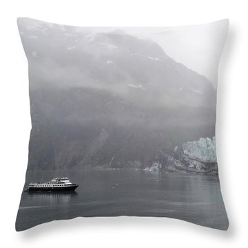 Glacier Ride Throw Pillow by Zawhaus Photography