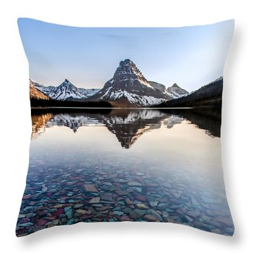 Throw Pillow featuring the photograph Glacier Skittles by Aaron Aldrich