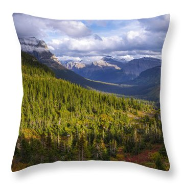 Glacier Storm Throw Pillow