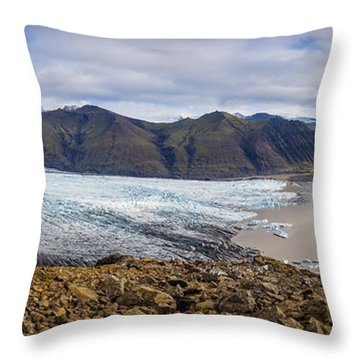 Throw Pillow featuring the photograph Glacier View by James Billings
