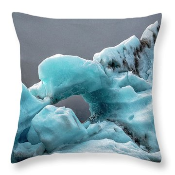 Throw Pillow featuring the photograph Glacier With Hole by Tom Singleton