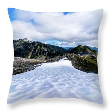 Glaciers At North Cascades Throw Pillow