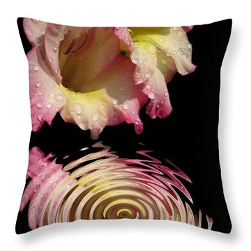 Throw Pillow featuring the photograph Glad Drip by Rick Friedle