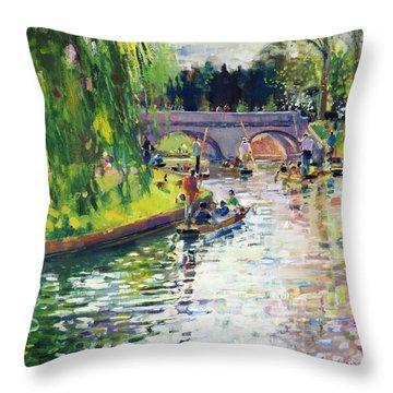 Glad Green Summer Throw Pillow