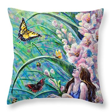 Glad To Be Here Throw Pillow by Gail Butler
