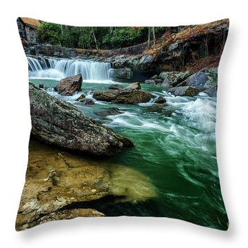 Glade Creek And Grist Mill Throw Pillow