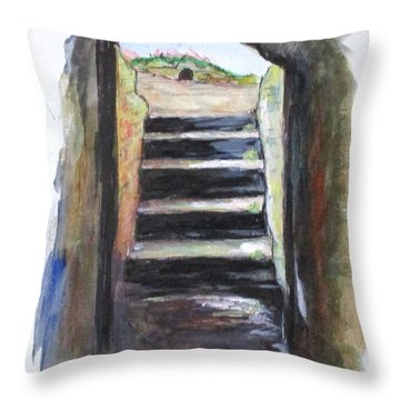 Gladiators Exit Throw Pillow by Clyde J Kell