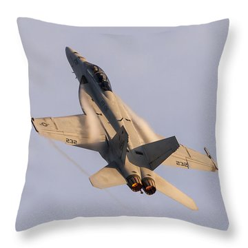 Gladiators Flying At Sunset Throw Pillow