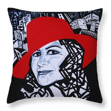 Glafira Rosales In The Red Hat Throw Pillow