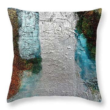 Glamorized Abstract Throw Pillow by Marsha Heiken