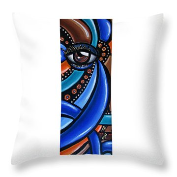 Abstract Eye Art Acrylic Eye Painting Surreal Colorful Chromatic Artwork Throw Pillow