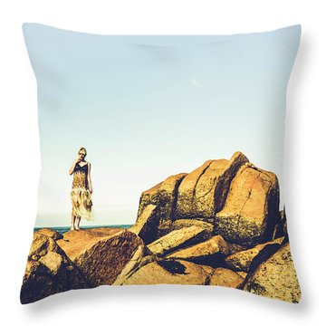 Glamour In Untouched Paradise Throw Pillow