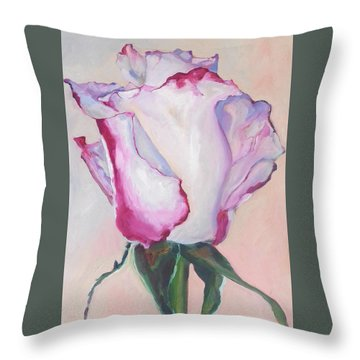 Glamour Roses IIi Throw Pillow