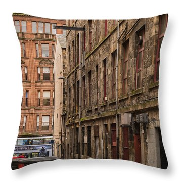 Glasgow Backstreet Throw Pillow