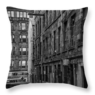 Glasgow Backstreet Monochromatic Throw Pillow