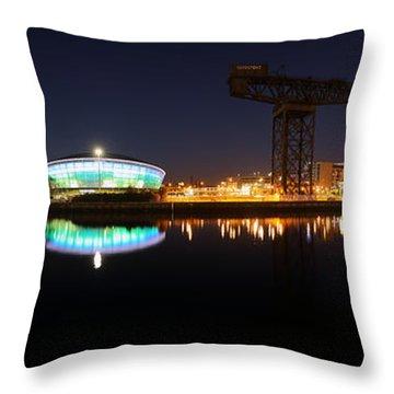 Glasgow Clyde Panorama Throw Pillow