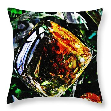 Glass Abstract 160 Throw Pillow by Sarah Loft