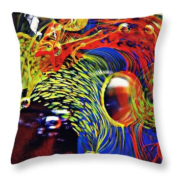Glass Abstract 630 Throw Pillow by Sarah Loft