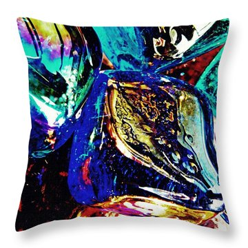 Glass Abstract 687 Throw Pillow by Sarah Loft