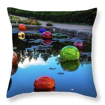 Glass At Biltmore Throw Pillow