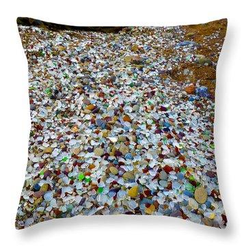 Glass Beach Throw Pillow by Amelia Racca