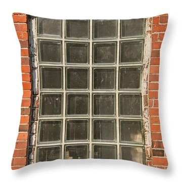 Glass Block Window Throw Pillow