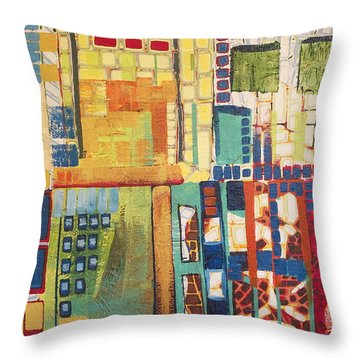 Throw Pillow featuring the painting Glass Bottom Boeing by Donna Howard