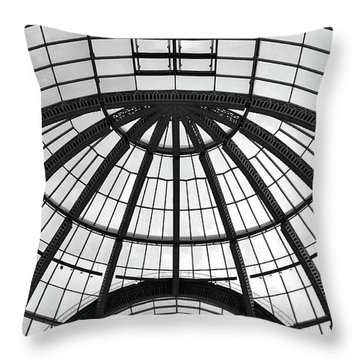 Throw Pillow featuring the photograph Glass Dome by Corinne Rhode