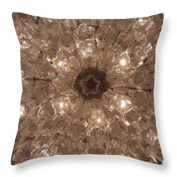 Glass Flower Throw Pillow by Anna Villarreal Garbis