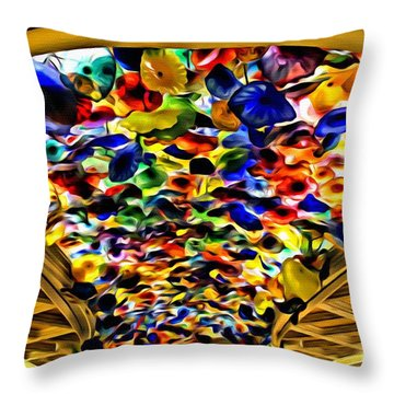 Throw Pillow featuring the photograph Glass Flowers by Beauty For God