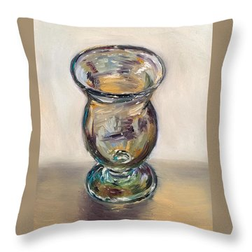 Glass Goblet Throw Pillow
