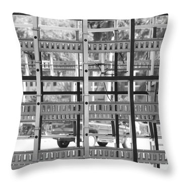 Glass Holders Throw Pillow by Rob Hans