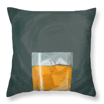 Glass, Ice,  Throw Pillow