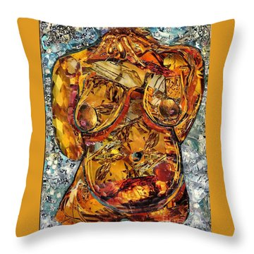 Glass Lady Throw Pillow