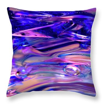 Glass Macro Xvi Throw Pillow by David Patterson