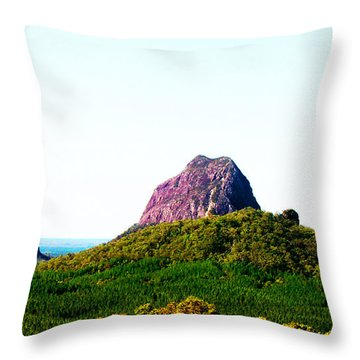 Glass Mountains - Extinct Volcanos Throw Pillow by Susan Vineyard